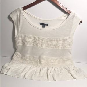 American Eagle XXS white light cotton top